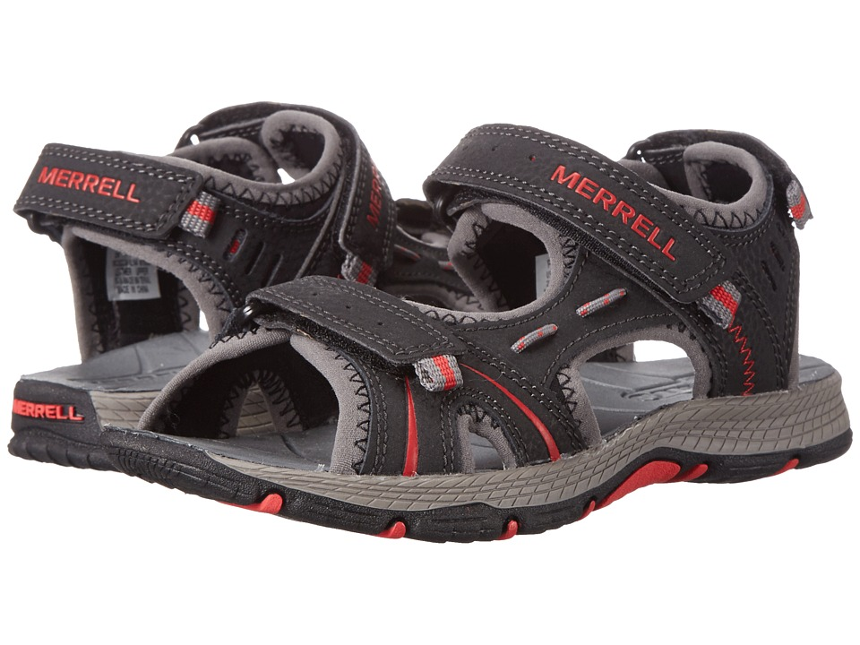 Merrell Kids Panther (Toddler/Little Kid) (Black/Red) Boys Shoes