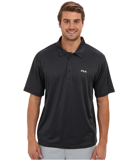 Fila - Performance Heather Polo (Black Heather) Men