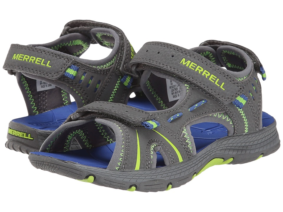 Merrell Kids - Panther (Toddler/Little Kid) (Grey/Blue) Boys Shoes