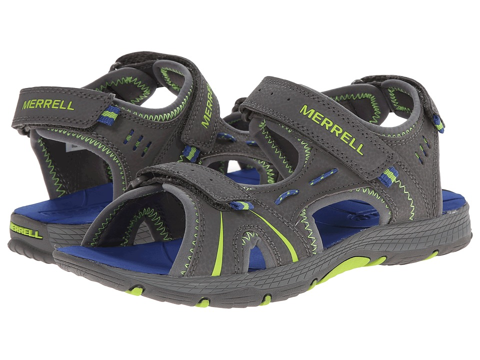 Merrell Kids - Panther (Big Kid) (Grey/Blue) Boys Shoes