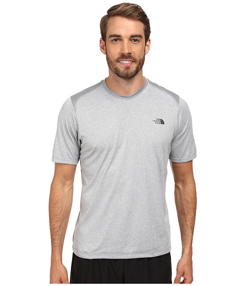 The North Face - Reactor S/S Crew (Monument Grey Heather/Monument Grey) Men's Short Sleeve Pullover
