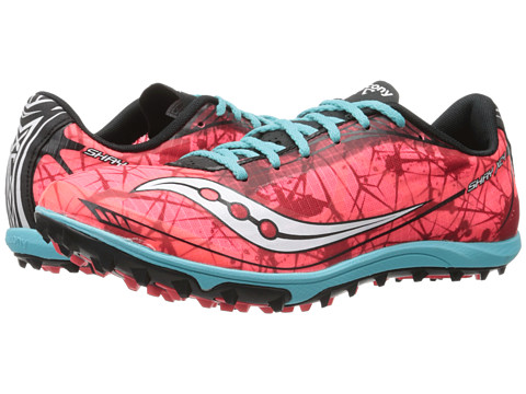 Saucony - Shay XC Flat (Vizicoral/Blue) Women's Shoes
