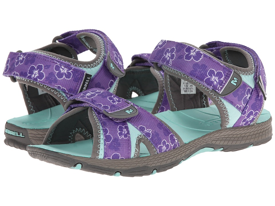 Merrell Kids - Surf Strap 2.0 (Big Kid) (Grey/Purple) Girls Shoes