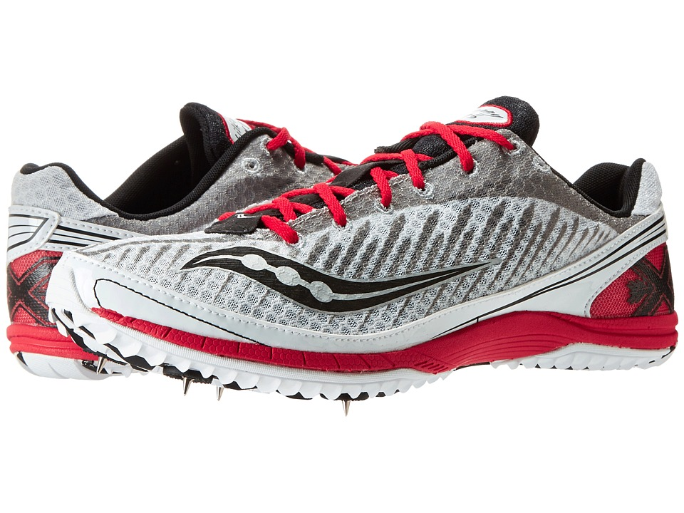 Saucony - Kilkenny XC5 Spike (White/Black/Red) Men's Running Shoes