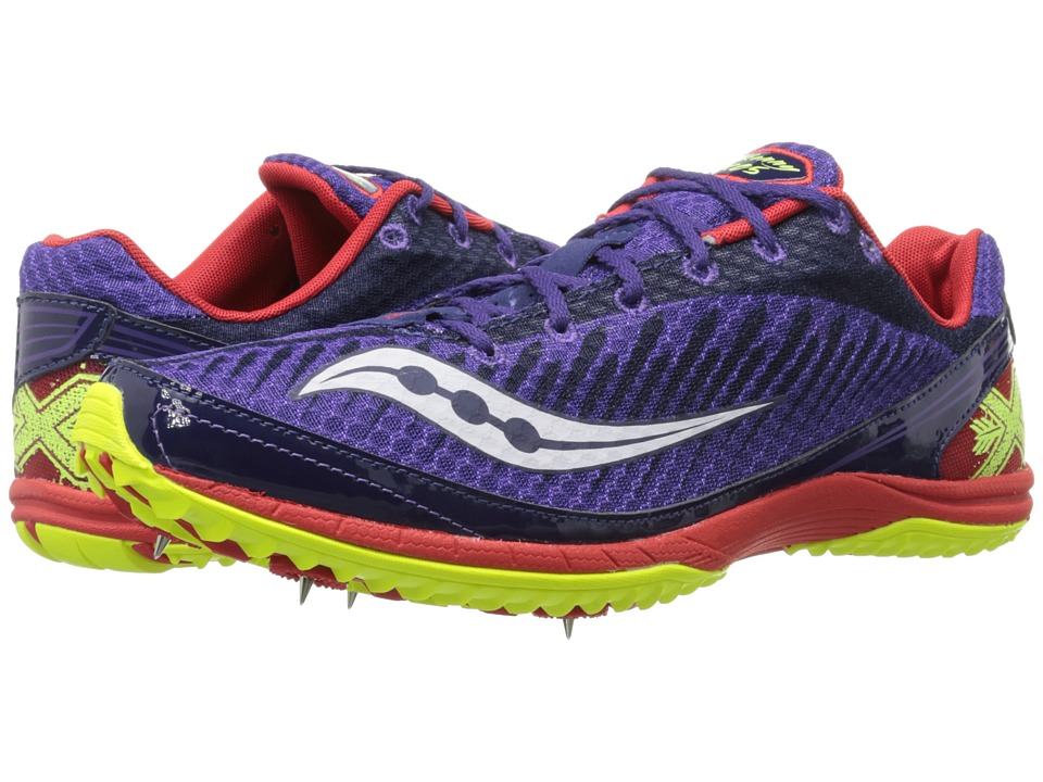 Saucony - Kilkenny XC5 Spike (Purple/Red/Citron) Men's Running Shoes