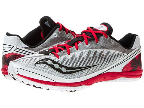 Saucony - Kilkenny XC5 Flat (White/Black/Red) Men's Running Shoes