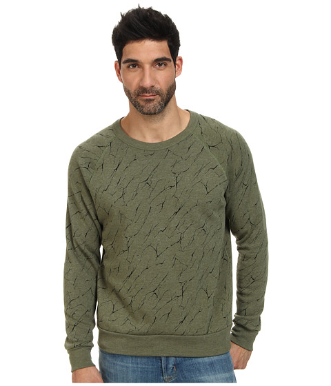 Alternative - Printed Champ Eco Fleece Sweatshirt (Eco Camo Green Mineral Lines) Men's Sweatshirt