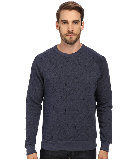 Alternative - Printed Champ Eco Fleece Sweatshirt (Eco True Midnight Mineral Lines) Men's Sweatshirt