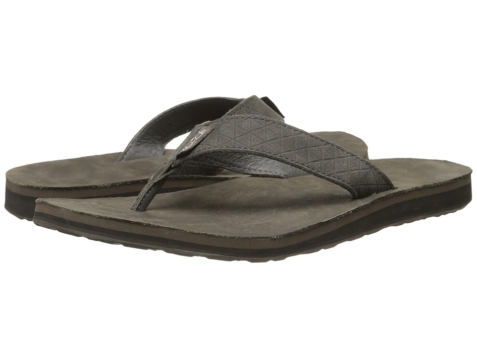 Teva - Classic Flip Leather Diamond (Black Olive) Men's Sandals