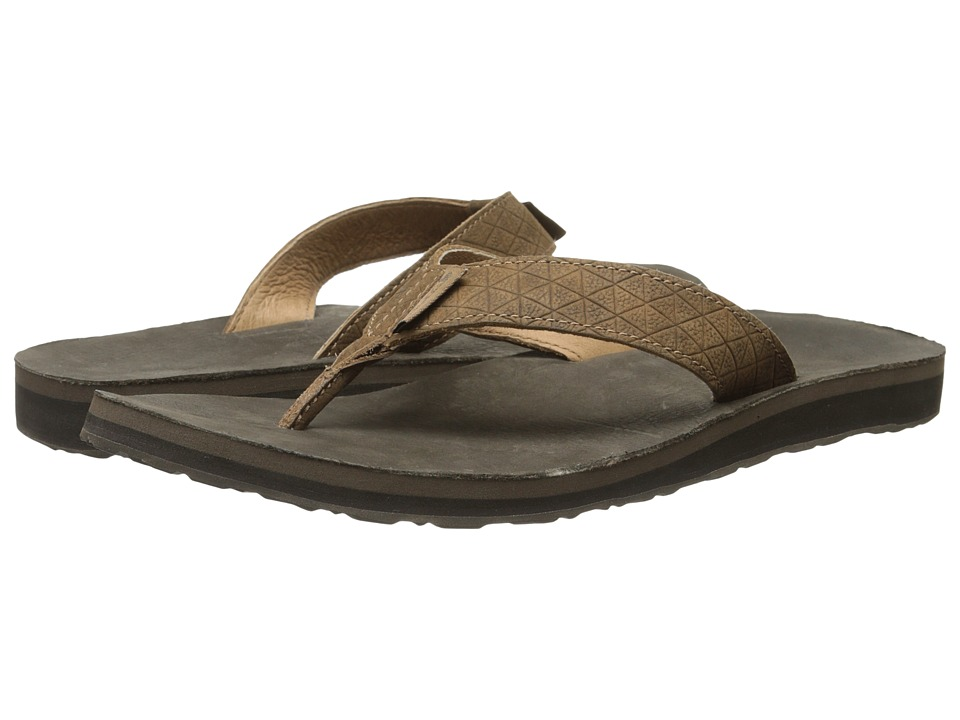 Teva - Classic Flip Leather Diamond (Toasted Coconut) Men's Sandals