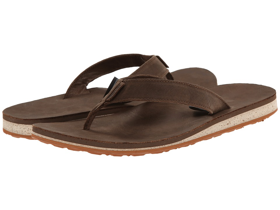 Teva - Classic Flip Premium Leather (Dark Earth) Men's Sandals