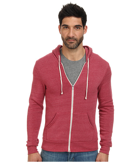Alternative - Rocky Zip Hoodie (Eco True Redwood) Men's Sweatshirt