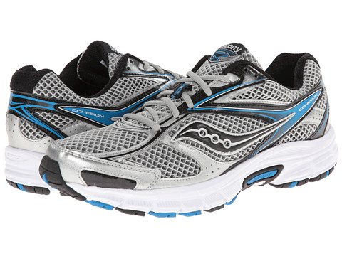 Saucony - Cohesion 8 (Silver/Black/Royal) Men's Running Shoes