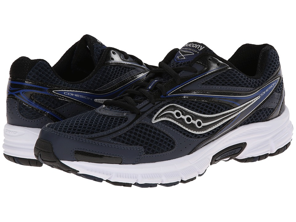 Saucony - Cohesion 8 (Navy/Black/Silver) Men's Running Shoes