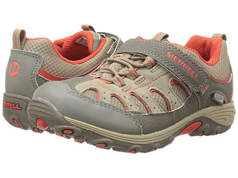 Merrell Kids - Chameleon Low A/C Waterproof (Big Kid) (Walnut/Red) Boys Shoes