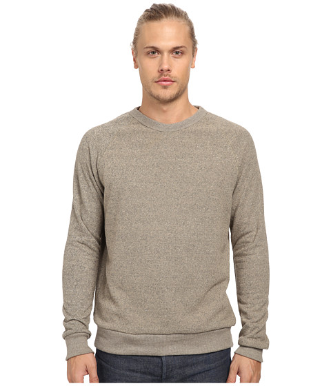 Alternative - Jaspe Crew Neck (Eco True Vintage Khaki) Men's Long Sleeve Pullover