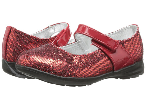 Baby Deer - Glitter Mary Jane (Infant/Toddler) (Red) Girls Shoes