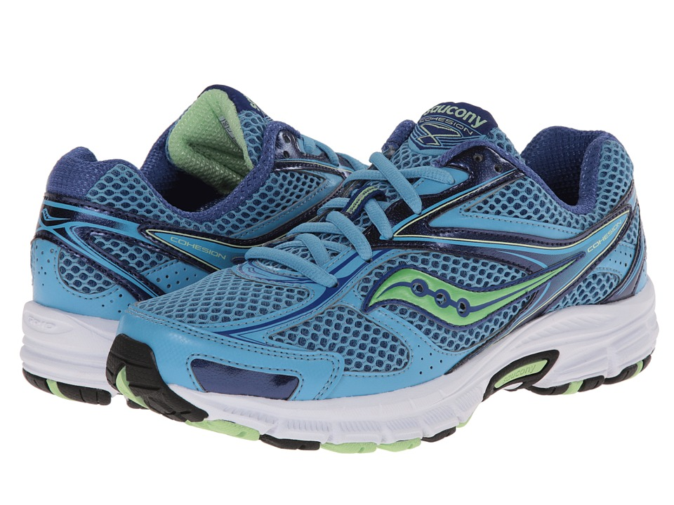 Saucony - Cohesion 8 (Blue/Green) Women's Running Shoes