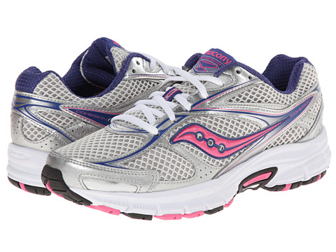 Saucony - Cohesion 8 (Silver/Navy/Pink) Women's Running Shoes