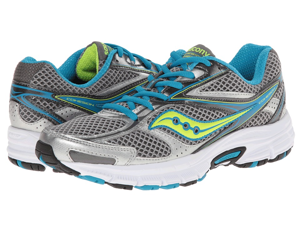 Saucony - Cohesion 8 (Grey/Blue/Citron) Women's Running Shoes