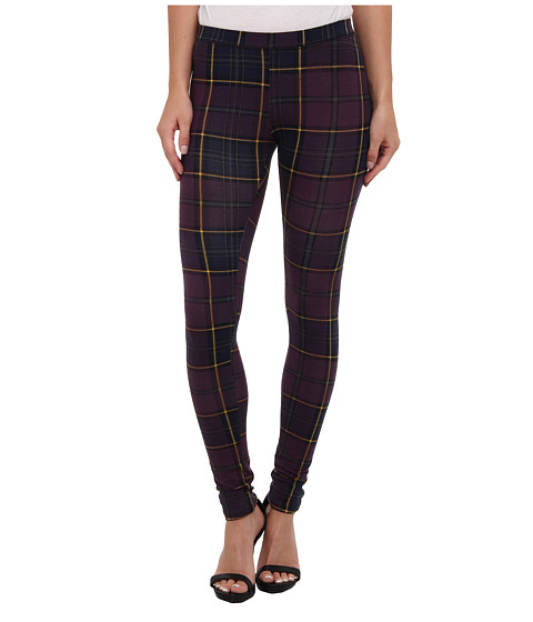 Alternative - Printed Skinny Legging (Eggplant Scott Plaid) Women's Casual Pants