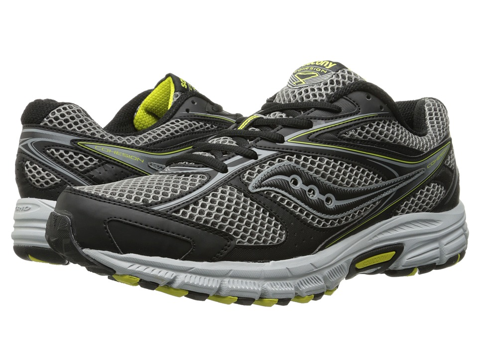 Saucony - Cohesion TR8 (Grey/Black/Yellow) Men's Running Shoes