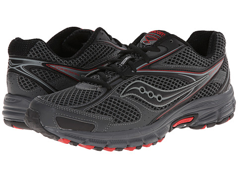 Saucony - Cohesion TR8 (Black/Grey/Red) Men's Running Shoes
