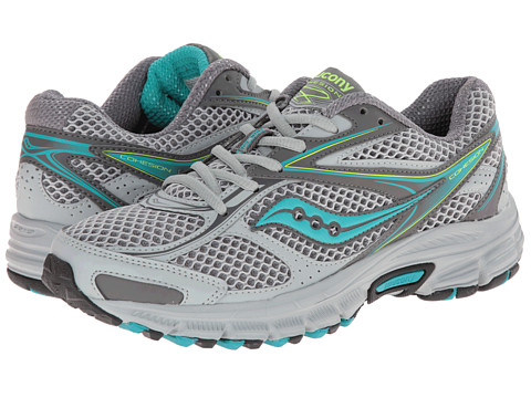 Saucony - Cohesion TR8 (Grey/Blue/Citron) Women's Running Shoes