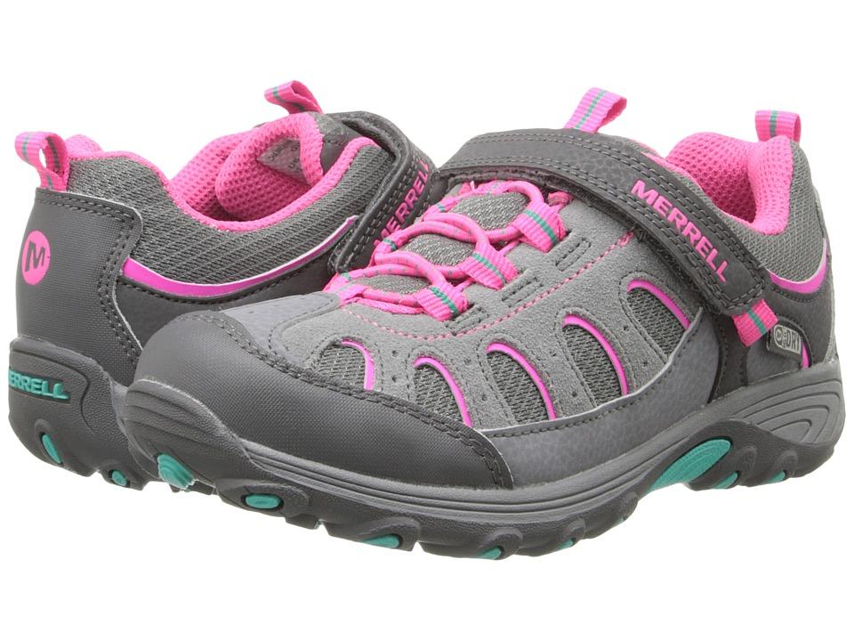Merrell Kids - Chameleon Low A/C Waterproof (Little Kid) (Grey/Pink) Girls Shoes