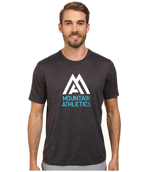 The North Face - MA Graphic Reaxion Amp Crew (Monument Grey Heather/Quill Blue) Men's T Shirt