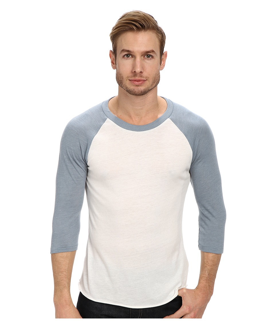 Alternative - Baseball Tee (Eco Ivory/Eco True Blue Frog) Men's T Shirt