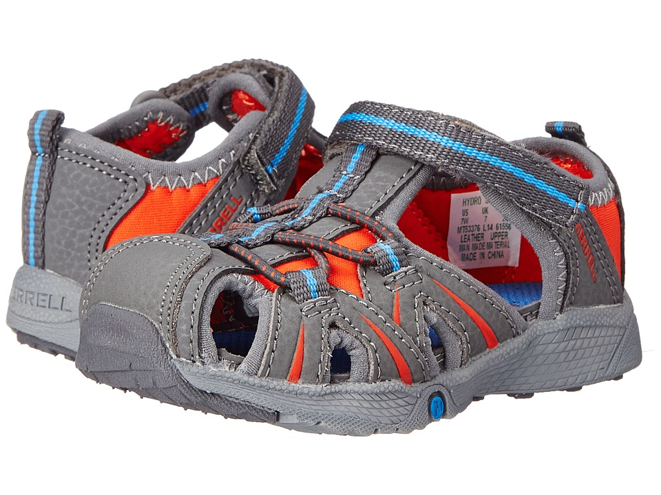 Merrell Kids - Hydro Junior (Toddler) (Grey/Blue) Boys Shoes