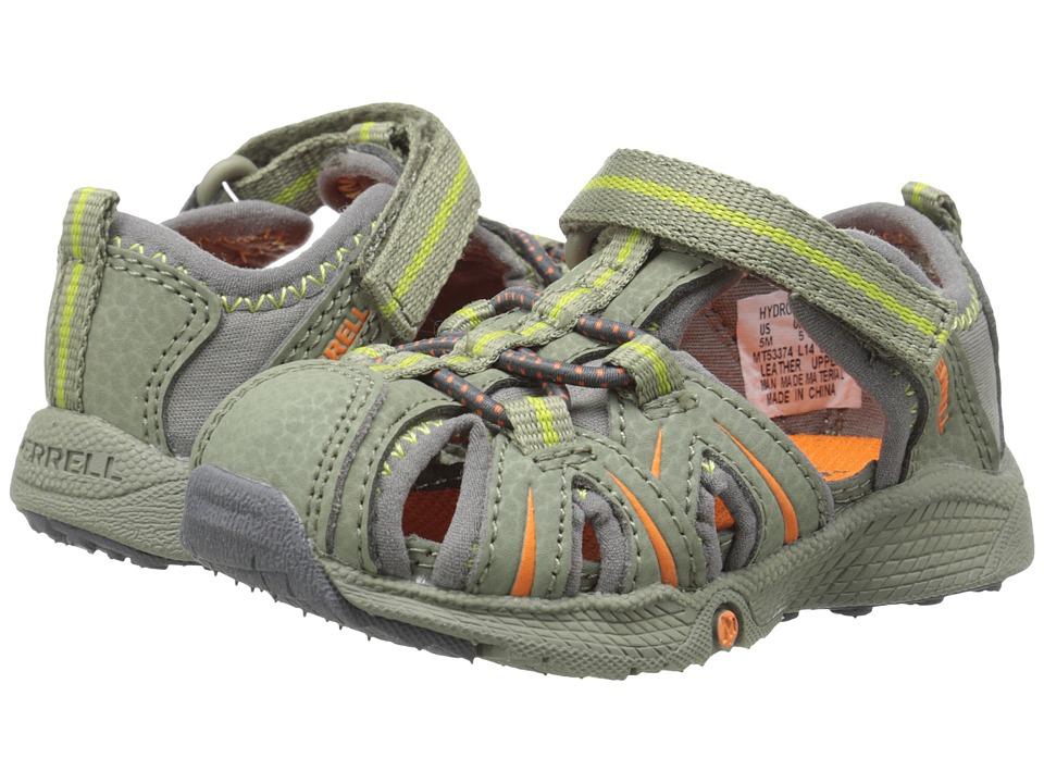 Merrell Kids - Hydro Junior (Toddler) (Olive/Orange) Boys Shoes