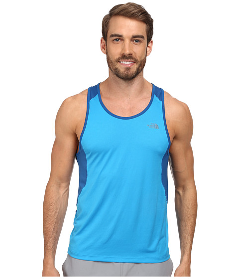 The North Face - Better Than Naked Singlet (Quill Blue/TNF White) Men
