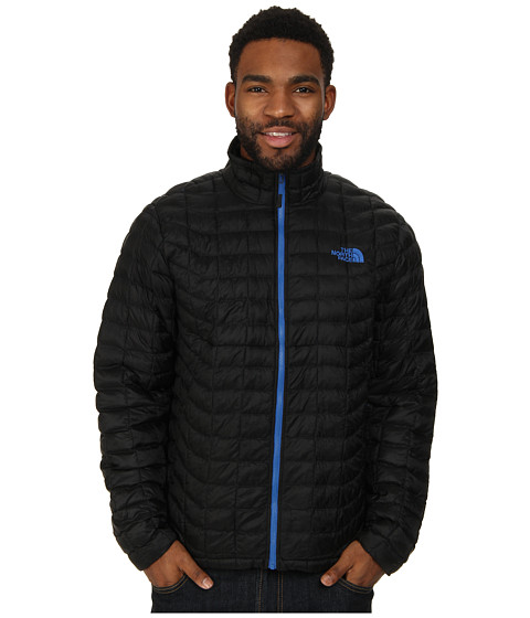 The North Face - ThermoBall Full Zip Jacket (TNF Black/Monster Blue) Men's Coat