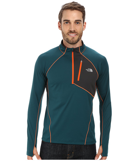 The North Face - Impulse Active 1/4 Zip (Deep Teal Green/Asphalt Grey) Men