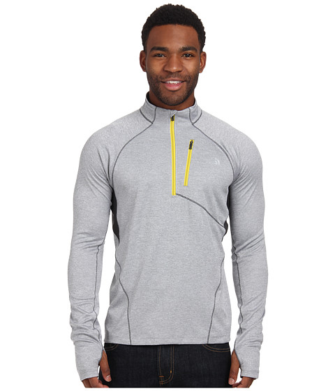 The North Face - Impulse Active 1/4 Zip (Monument Grey Heather/Monument Grey) Men