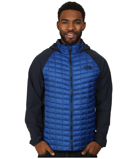 The North Face - ThermoBall Hybrid Hoodie (Monster Blue/Outer Space Blue) Men's Coat