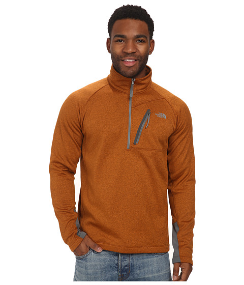 The North Face - Canyonlands 1/2 Zip (Burnished Orange Heather) Men's Long Sleeve Pullover