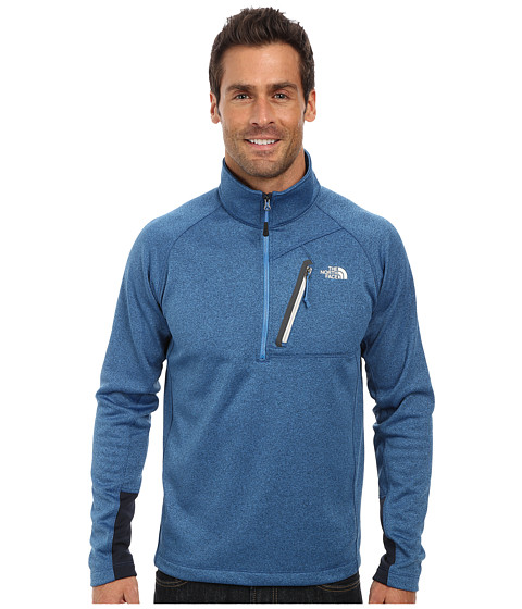The North Face - Canyonlands 1/2 Zip (Heron Blue Heather) Men's Long Sleeve Pullover