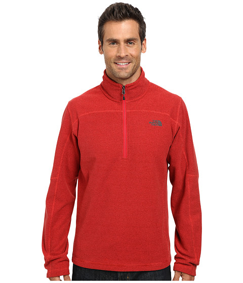 The North Face - Texture Cap Rock 1/4 Zip (TNF Red) Men's Sweatshirt