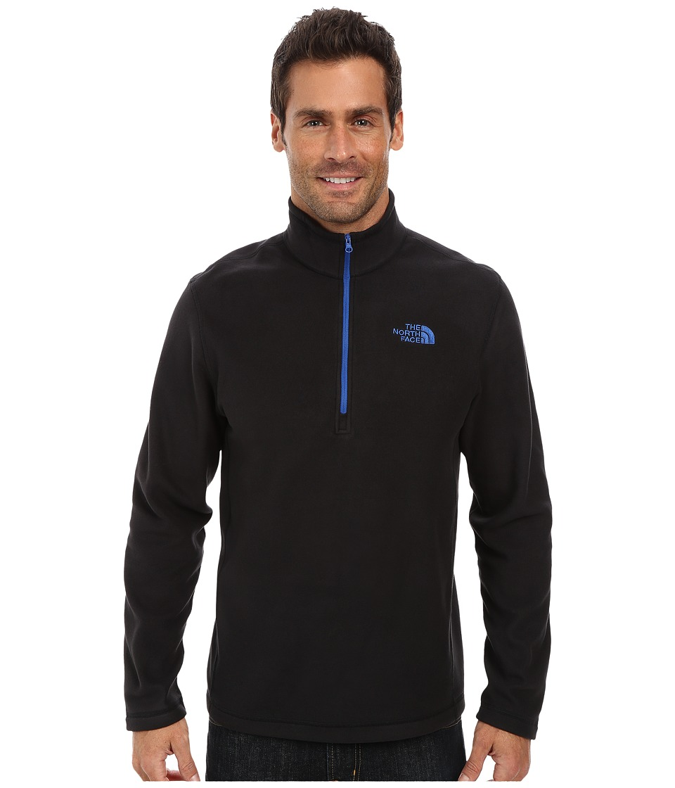 The North Face - TKA 100 Glacier 1/4 Zip (TNF Black/Monster Blue) Men's Sweatshirt