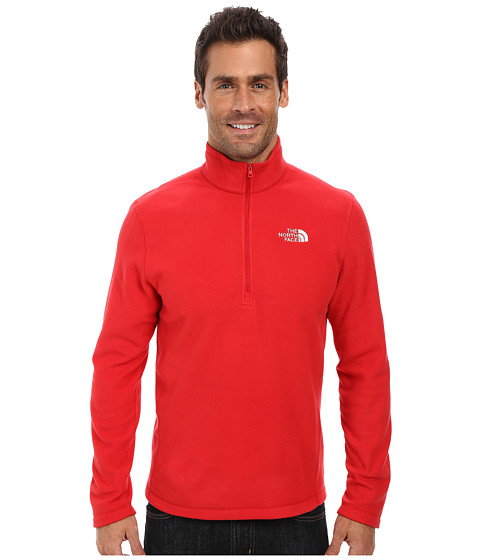 The North Face - TKA 100 Glacier 1/4 Zip (TNF Red) Men's Long Sleeve Pullover
