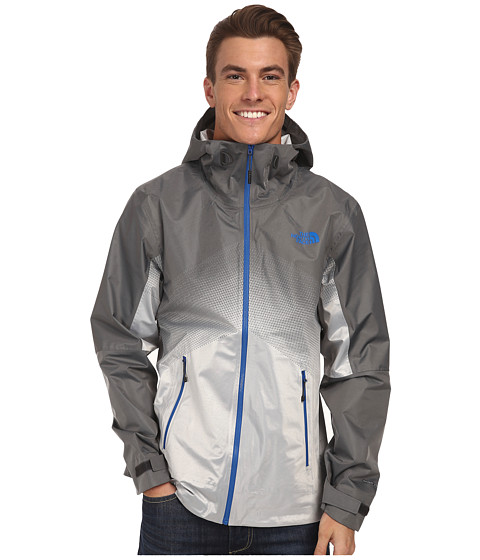 The North Face - FuseForm Dot Matrix Jacket (Asphalt Grey/Monster Blue Dot Matrix) Men's Coat