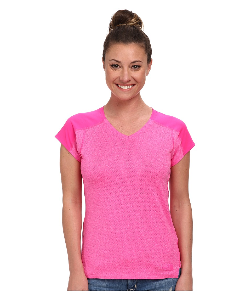 The North Face - Dynamix S/S (Glo Pink Heather/Glo Pink) Women's Workout