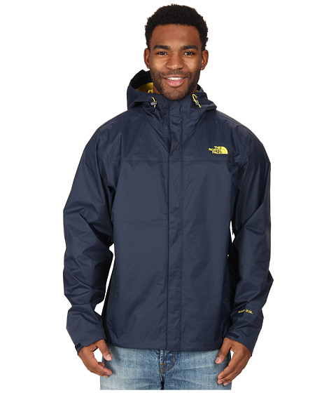 The North Face - Venture Jacket (Outer Space Blue/Out Space Blue/Acid Yellow) Men