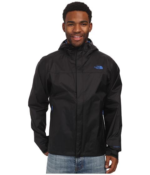 The North Face - Venture Jacket (TNF Black/TNF Black/Monster Blue) Men's Jacket