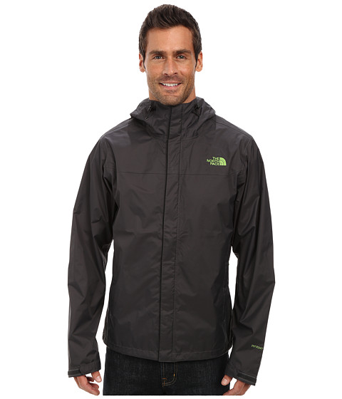 The North Face - Venture Jacket (Asphalt Grey/Asphalt Grey/Scottish Moss Green) Men's Jacket