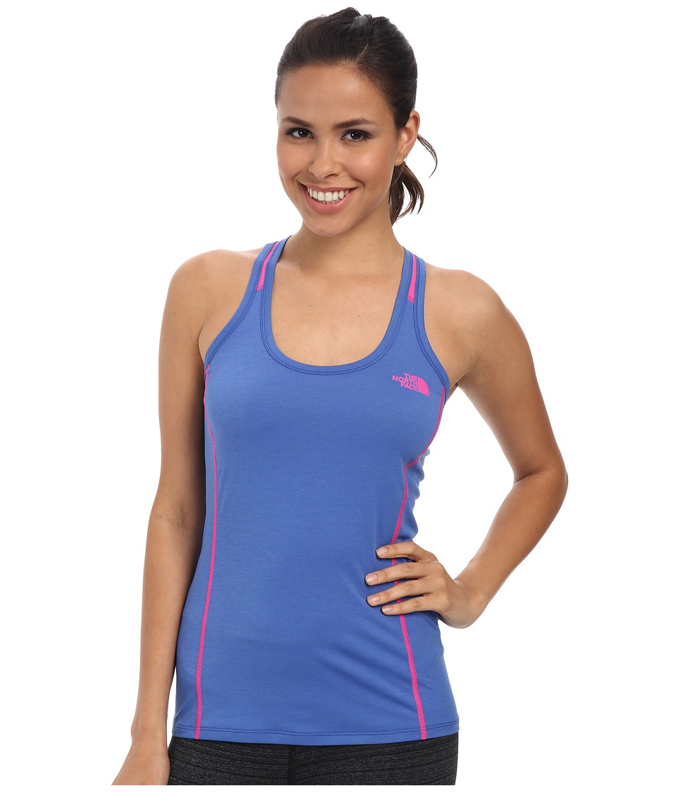 The North Face - MA-X Tank (Coastline Blue/Glo Pink) Women's Sleeveless