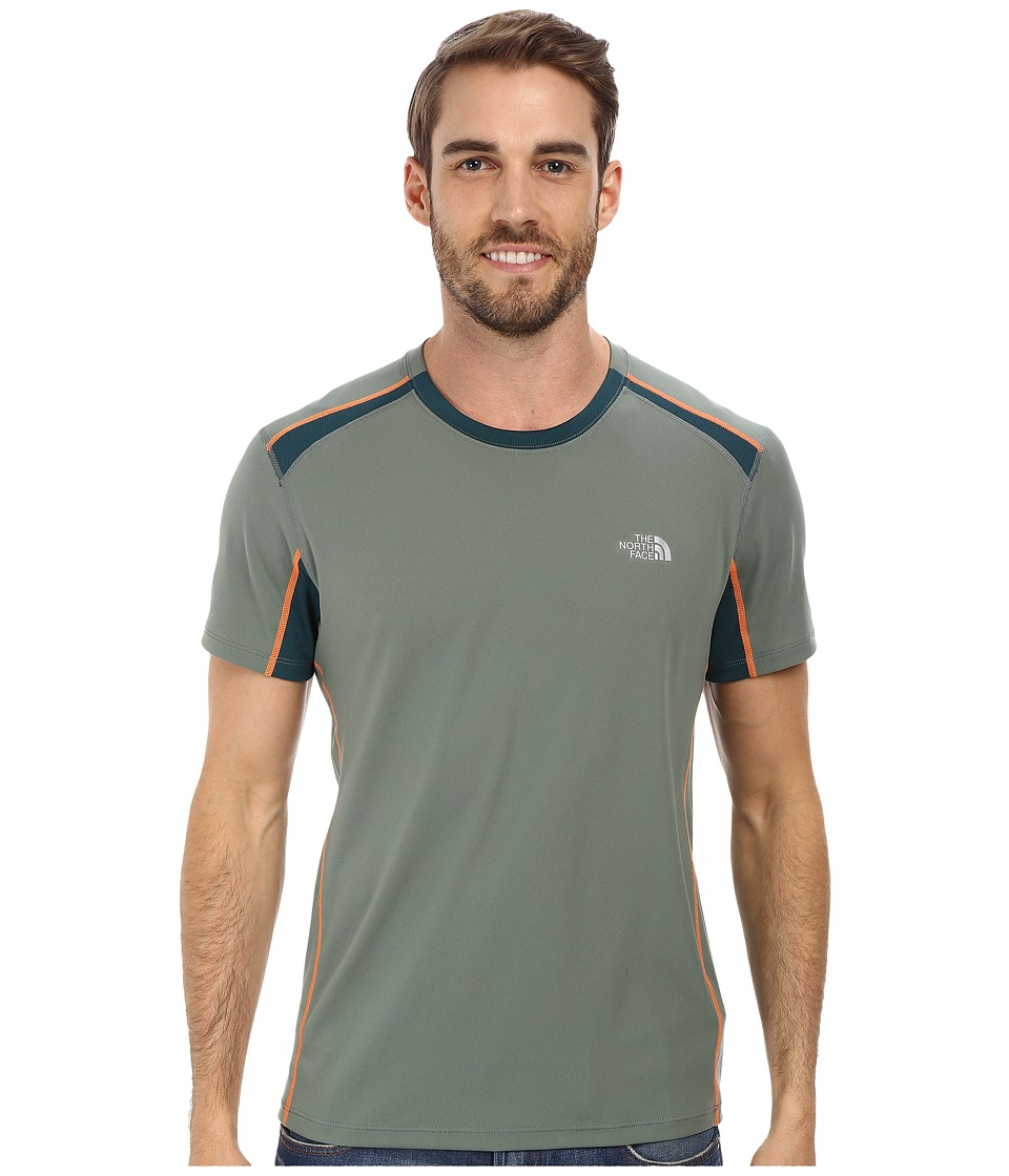 The North Face - GTD S/S (Laurel Wreath Green/Deep Teal Green) Men's T Shirt